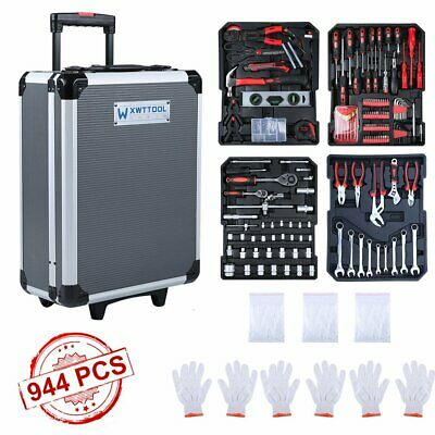 Tool Trolley Set Compact 944PCS Mobile Workshop Toolbox With Carry Box ES