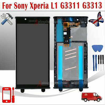 For Sony Xperia L1 G3311 G3312 LCD Touch Digitizer Frame Screen Full Replacement