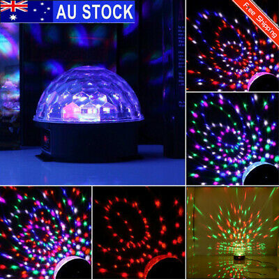 Mini Disco Club Party DJ LED RGB Stage Light Lamp Bulb Laser Crystal Magic Ball