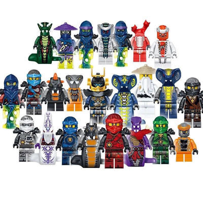 UK Stock Set of 24pcs Ninjago Mini figure for Lego Kai Jay Building Blocks Toys