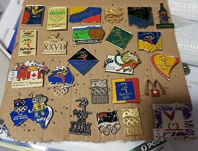 Set of 40 Sydney 2000 OLYMPIC GAMES pins: Assorted