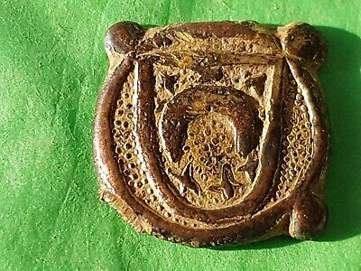 Stunning Medieval Ottaman heraldic gilded mount. Please read description. L154r