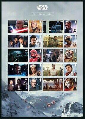 Gb 2019 Star Wars Apollo Droids Aliens & Creatures Space Films Sheet Mnh