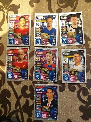 LOTE 7 CARDS man of the match, TOPPS MATCH ATTAX 2019 2020 CHAMPIONS LEAGUE