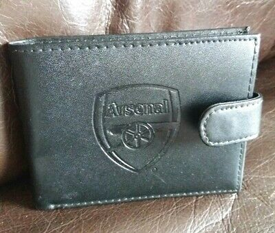 OFFICIAL ARSENAL FC Football Club Crest Embossed Black Money Wallet