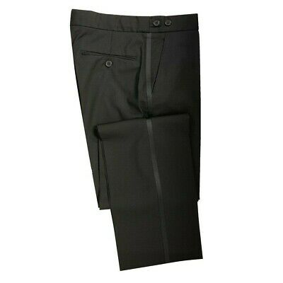 Mens Black Evening/Tuxedo Cruise/Ball Dinner Trousers
