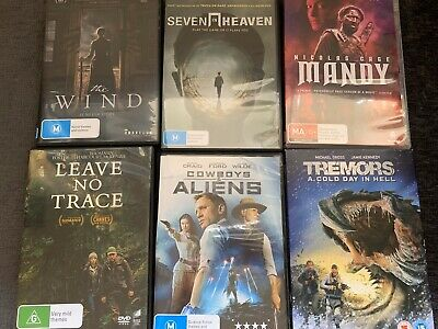 6 X DVDs Mandy, The Wind, Seven In Heaven, Tremors Cold Day In Hell Horror SciFi