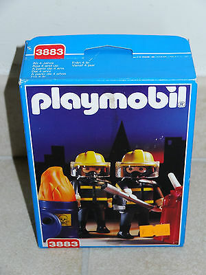 boite neuve PLAYMOBIL 3883 POMPIER fire fighter HINKE NEU 1996 NEW BOX