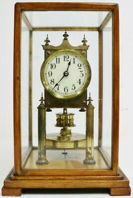 Superb Antique Gustav Becker B.H Abrahams 400 Day Torsion 4Glass Regulator Clock