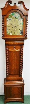 Luxury Antique 19thC English 8 Day Walnut Grandfather Longcase Regulator Clock