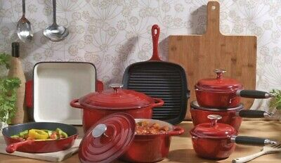 Cooks Professional Cast Iron Cookware small red pot only