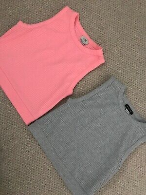 Girls River Island Crop Top Age 11-12 Years Bundle Of 2