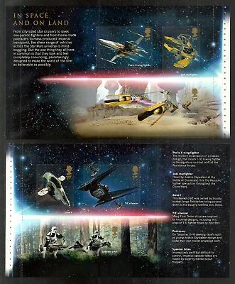 Gb 2019 Star Wars Apollo Space Films Prestige Booklet Sheet Panes Mnh
