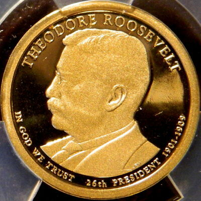 2013 S Theodore Roosevelt Proof President Dollar Anacs Pf 69 Dcam