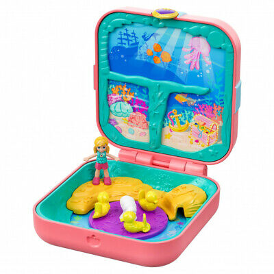 Polly Pocket Hidden Hideouts Mermaid Cove Playset with Figure and Accessories