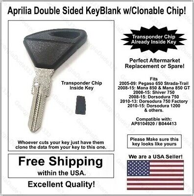 Key Blank for Peugeot Speedfight /& Vivacity New Uncut Key with Immo Chip Holder