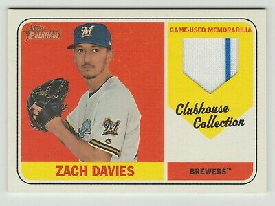 2018 Heritage High Number Zach Davies Clubhouse Collection Jersey Relic 2 Color