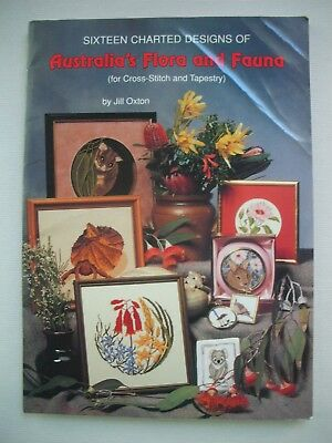 Australia's Flora and Fauna - Jill Oxton - Cross Stitch Tapestry Pattern Book