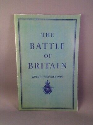 ww2 RAF battle of britain booklet bob account by ministry of defence spitfire