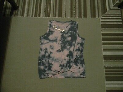 Nwt Justice Girls  Active Live Freely Twist Front Tank Orchid Poly  18/20