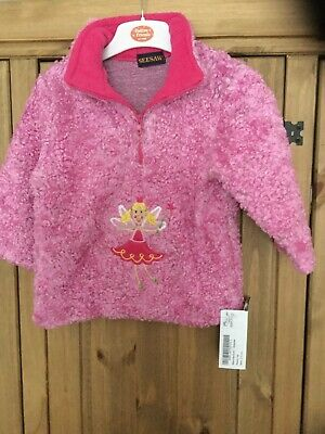 New With Tags Girls Fleece Top,age 2-3 Years , Colour Pink ,theme Fairy, Seesaw