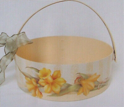 """Peggy Stogdill  tole painting pattern """"Daffodils on a Sending Basket"""""""