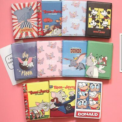 Passport Cover Dumbo Tom and jerry Style Passport Holder for Travel ID Card Hold
