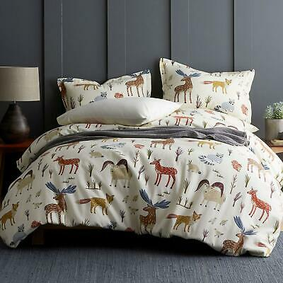 The Company Store Wildlife 5 oz. Cotton Flannel Bedding Queen SZ Sheets NEW