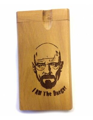 Heisenberg Breaking Bad Dugout wood Stash Box Metal Cigarettes tobacco pipe