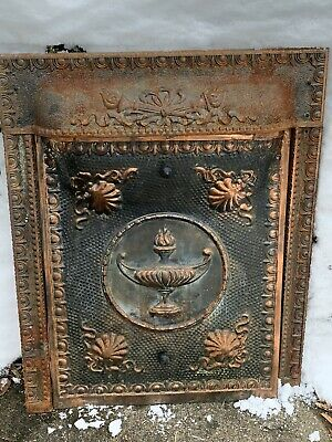 Victorian Cast Iron Fireplace Surround Grate Insert Antique Architecture Garden