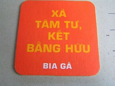 Vietnam new beer mat .coaster .ROOSTER BEER BIA GA,