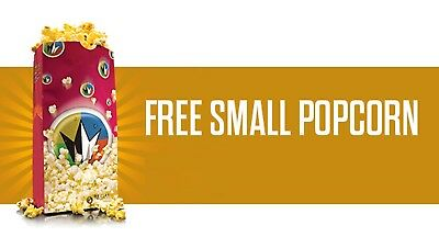 Regal Cinemas Free Small Popcorn (Upgradable) at Movie Ticket tickets Theaters