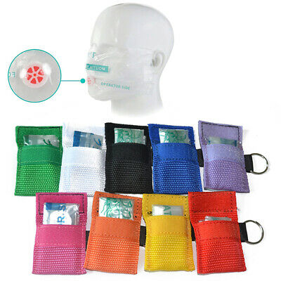 CPR First Aid Mask Disposable Breathing PVC Mask Check Valve Design Mask