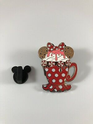 Minnie Mouse Disney Parks Happy Holidays Hot Cocoa Mystery Pin