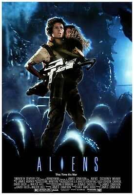 Aliens Movie Poster 24x36 Inch Wall Art Portrait Print - Frame Ready Print
