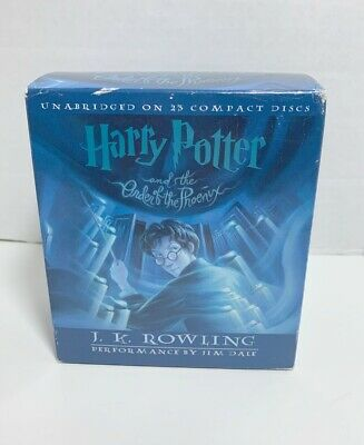 Harry Potter And The Order Of The Phoenix Audio Book 23 CD Set Complete EUC
