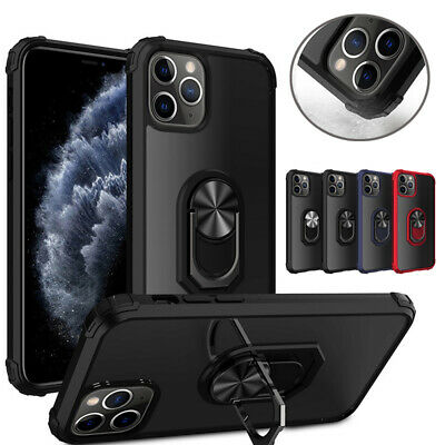 For iPhone 11 Pro XS Max XR XS 8 7 Plus Shockproof Armor Rugged Ring Case Cover