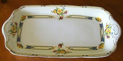 """J & G Meakin Serving / Sandwich Platter"" , C1930 , Excellent Aged Condition !"