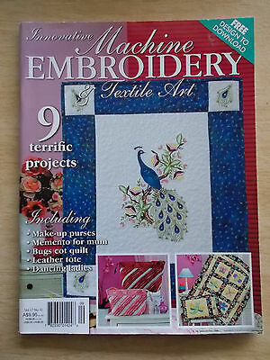 Machine Embroidery & Textile Art Vol 17 #11~Quilt~Peacock~Barrette~Swahili~Bags
