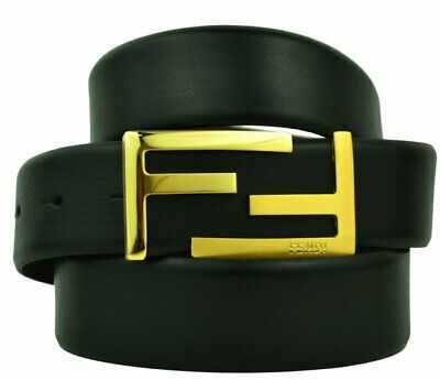 FENDI genue leather luxury fashion men's belt for trousers BLACK 519