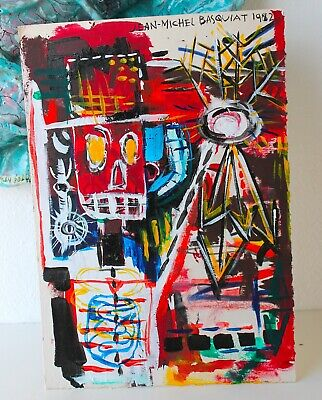 Jean Michael Basquiat /Send Offer/American Painting Graffitti Andy Warhol Haring