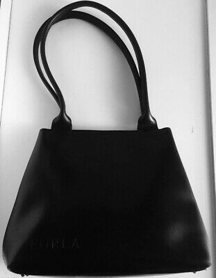 ✅ Borsa Furla Vera Pelle Colore Nero 100 % Black Leather Italy Bag