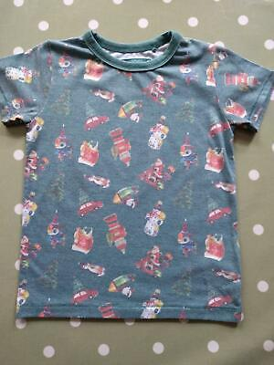 Next Boys Girls Vintage Faded Christmas Bauble Print T Shirt 3-4 Yrs Excellent!