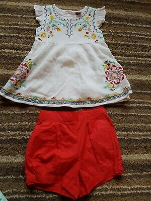 Beautiful Top And Shorts Set ftom Tu. Girls 2-3 Years. Never Worn