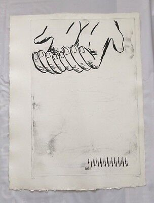 Enzo Cucchi - Etching - La Mana 2 - Signed And Numbered 108X80Cm