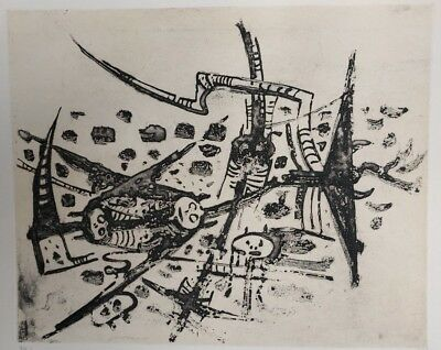 Wilfredo Lam - Au Galop, Au Galop, N'est Pas Rose -Signed- Certified - Etching #