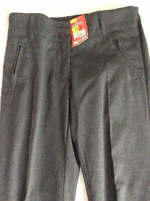Marks And spencer girls Grey school trousers (Long Leg) Age 8-9 Years