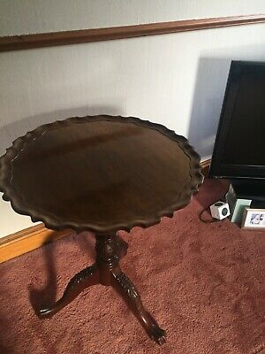 Mahogany folding wine table, Chippendale style, great condition