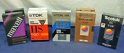 Vhs Tapes, Lot Of 8, New, Sealed, Tdk, Scotch, Maxell,