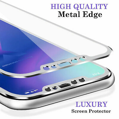 For iPhone 6 6s 7 8 Plus X XS Gorilla Tempered Glass Screen Protector- Metal New